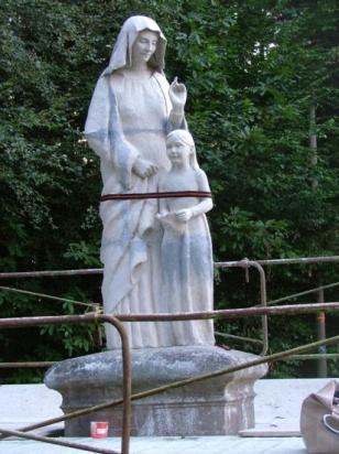 réalisation de Sainte Anne et Marie enfant