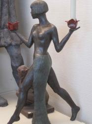 Bougeoir femme 1900