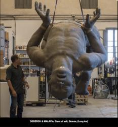 Coderch malavia giant of salt bronze en cours de fabrication