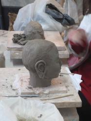 Sculpture tête de boudha