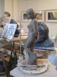 sculpture nu debout
