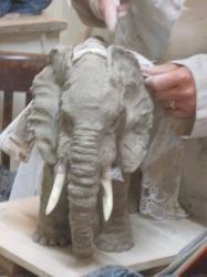 sculpture éléphant asie