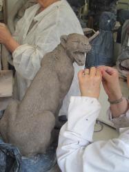 Sculpture guépard