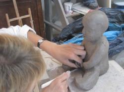 sculpture bébé