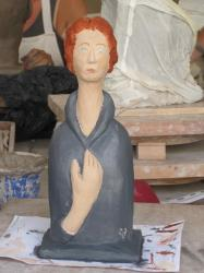Buste femme d'après Modigliani