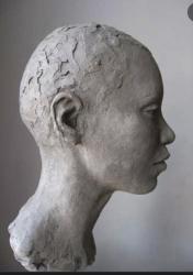 Profil tete de femme noire